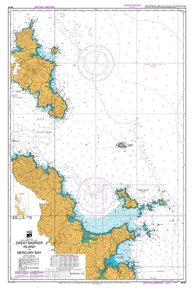 NZ 531 Hydrographic Marine Chart- Great Barrier Island to Mercury Bay