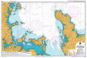 NZ 532 Hydrographic Marine Chart- Approaches to Auckland