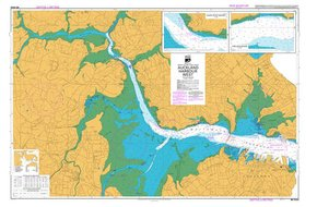 NZ 5323 Auckland Harbour West Hydrographical Marine Chart