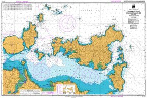 NZ 5324 Hydrographic Nautical Chart- Tamaki Straight & Approach.