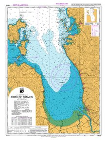 NZ533 Hydrographic Nautical Chart- Firth of Thames