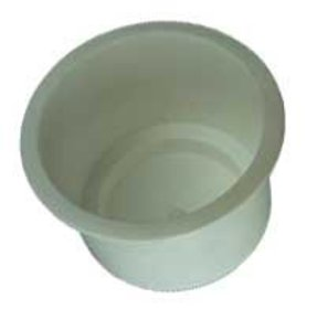 95mm Recessed White Flush Drink Holder