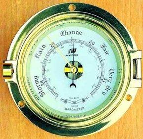 "3"" Traditional Brass Porthole Style Barometer"