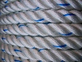 14mm Polyester 3 Strand Laid Rope (Per Metre)