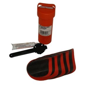 Inflatable Boat Repair Kit Hypalon - w/valve tool (Red/Black)