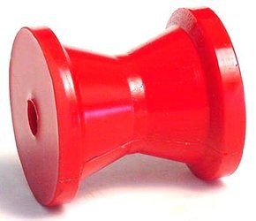 Red Urethane Fairlead Bow Roller Only- 70mm