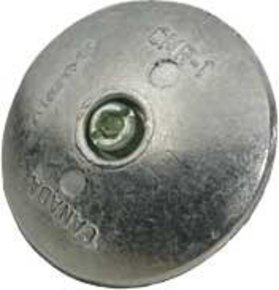 Zinc Rudder Anode 125mm (Pair/2 Sides)