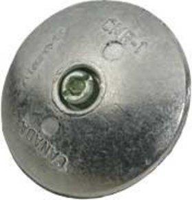 "Zinc Rudder Anode - 46mm (1.7/8"") (Pair/2 Sides)"