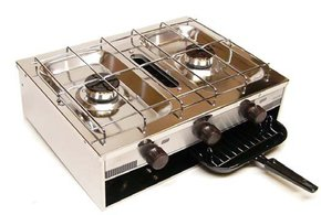SS 2 Burner Cooker Cooker w/Grill-Boat & RV