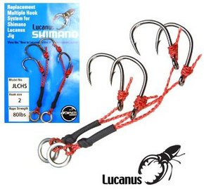 Lucanus Slow Jig replacement Hooks Only- 2 Piece