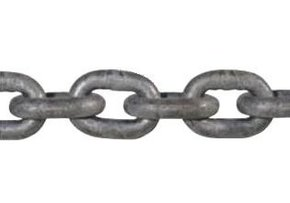 DIN 766 7mm Short Link Galvanised Chain (Per Metre)