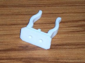 "White Nylon Tube Clip/Holder- 22mm (7/8"")"