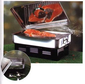 Stainless Steel Compact Fish & Meat Smoker Cooker