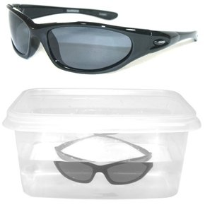 Speedmaster Polarised Sunglasses - Black/Smoke - Floating