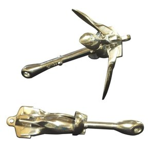 SAV 316 Grade Stainless Steel Folding Grapnel Anchor - 1.5kgs
