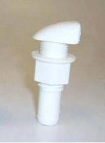 16mm Straight Tank Breather Vent White - Nylon