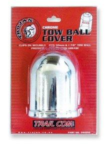 "Chrome Tow Ball Cover-1.78""/2"""