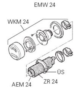 EMW 24 Wall Mt Flue Kit for E2400k Cabin Heater/Marine-2.4kw