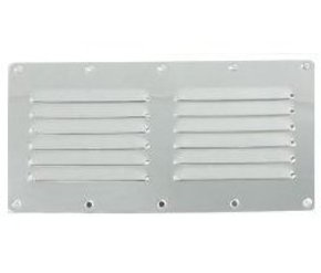 SS Wide Louvred Marine/RV Air Vent-230X115mm