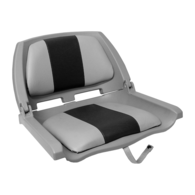 Traveller Folding Padded Seat Grey w/Dark Grey Trim