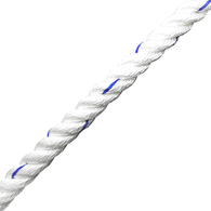 10mm Polyester 3 Strand Laid Rope (Per Metre)