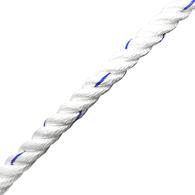 16mm Polyester 3 Strand Rope (Per Metre) (white or black)