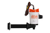 Elbow Live Bait Pump - 12v / 800 GPH
