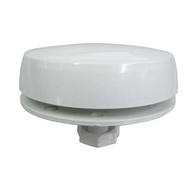 White Plastic Mushroom Vent (With Insect Screen)