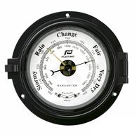 "4.5"" Traditional Brass (Black) Porthole Time & Tide Clock"