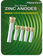 Yanmar 119773-92600 Engine Pencil Anode Kit