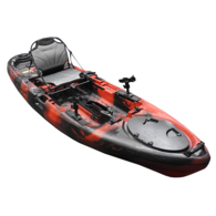Yellowfin Angler Pedal Fish 10' Kayak Package - Fury Red