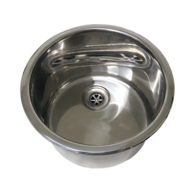 127mmD x 292mmW (OD) Sink / Hand Basin with angled 19mm sink