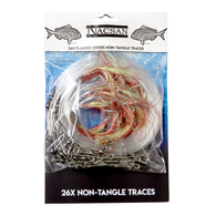 Tangle Free Longline Trace Set with Flasher Rig Hooks (26 Pack)