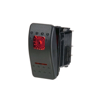 20 Amp Red LED Waterproof Rocker Switch Off - On