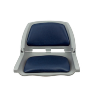 Traveller Padded Folding Seat Grey/Blue