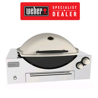 Weber Q3600 NG (Natural Gas) In-Built Family Barbeque (BBQ) Grill/Titanium