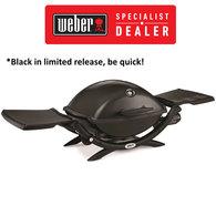 Q Premium Q2200 BBQ - Portable LPG Gas Barbecue / Grill - Black