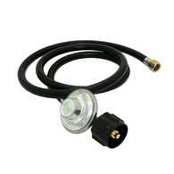 LPG Gas Cylinder Regulator w/Hose QCC 3/8BSP - 90 degree