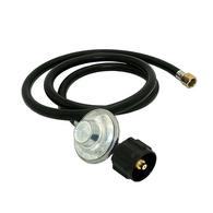 LPG Gas Cylinder Regulator w/Hose QCC 3/8BSP - 90 degree