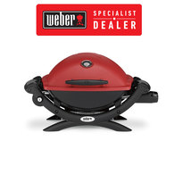 Baby Q Q1200 BBQ - Premium LPG Gas Portable Grill / Barbecue - Red