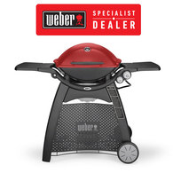 Family Q Premium Q3200 Gas BBQ - Grill / LPG Barbecue with Cart  - Red