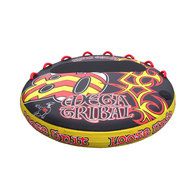 """Mega Tribal 2-4 Person 80"""" Flat Deck Inflatable Towable Water Toy"""