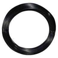 100' Outrigger Black Mono Line - 400lb w/Crimps