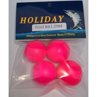HOLIDAY FLOAT BALL PINK 25MM - 4 PACK