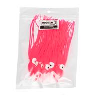 Bright Pink Octopus Lure Skirt 10cm 5-Pk