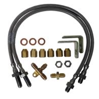 TPT10211 Trailer Disc Brake Hose Kit- Single Axle - Stainless Steel - Pair