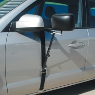 Deluxe Strap On XL Trailer/Caravan 4x4 Towing Mirror w/Blind Spot Mirror
