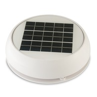 "4"" Day/Night White Solar Vent plus Led"