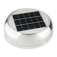 "4"" Day/Night Stainless Steel Solar Vent With Nimh Battery"