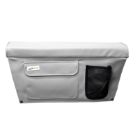 Seat Cushion (Squab) with Storage Pocket 30 x 60cm - Beige Grey